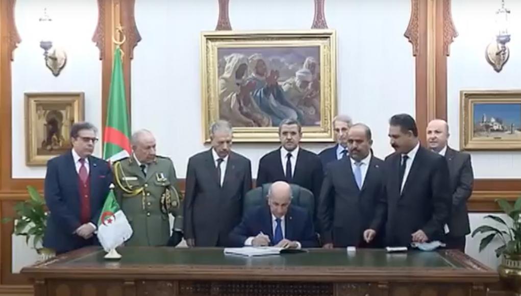 Tebboune signature LFC 2021