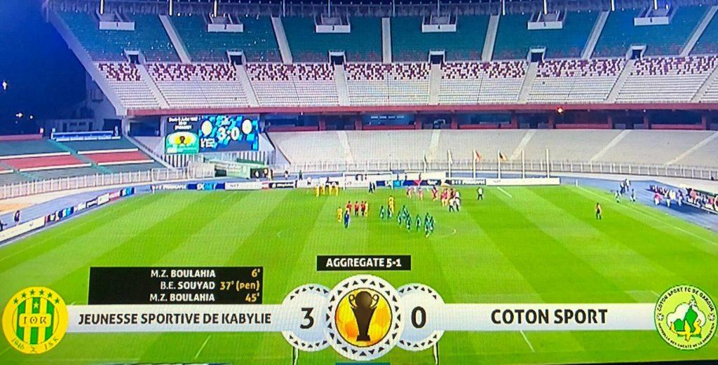 La JSK se qualifie pour la finale de la Coupe de la Confédération après sa victoire face au Coton Sport.