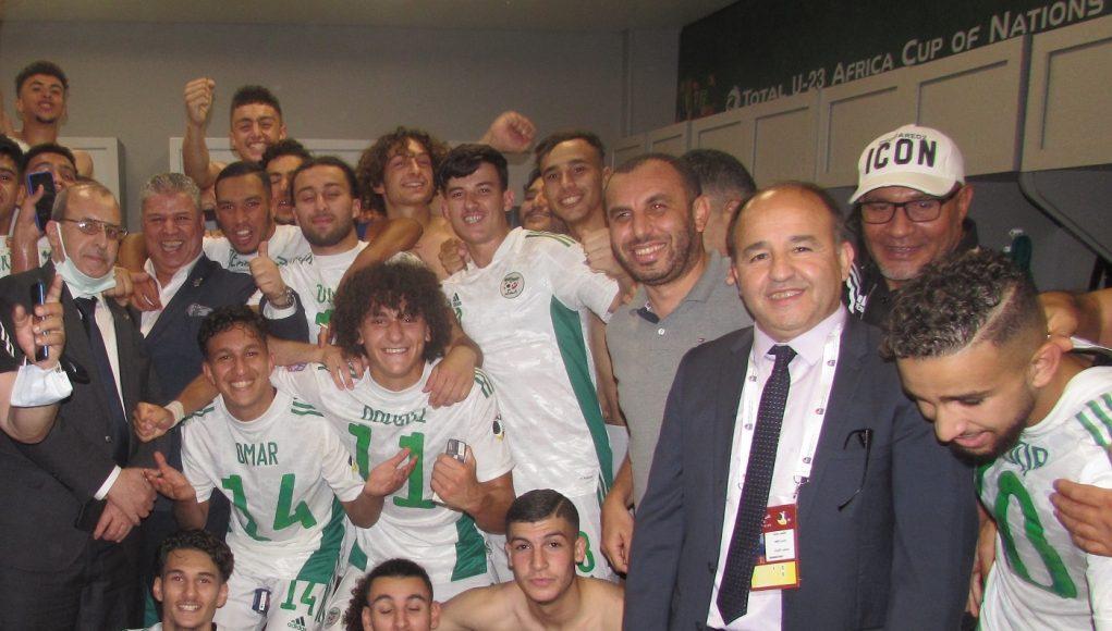 U20 joueurs algériens participant à la Coupe Arabe en Egypte