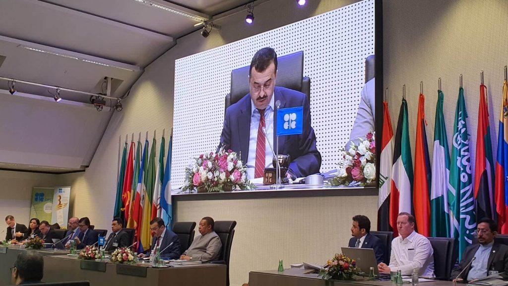 Ministre algérien de l'Energie lors d'une réunion de l'OPEP