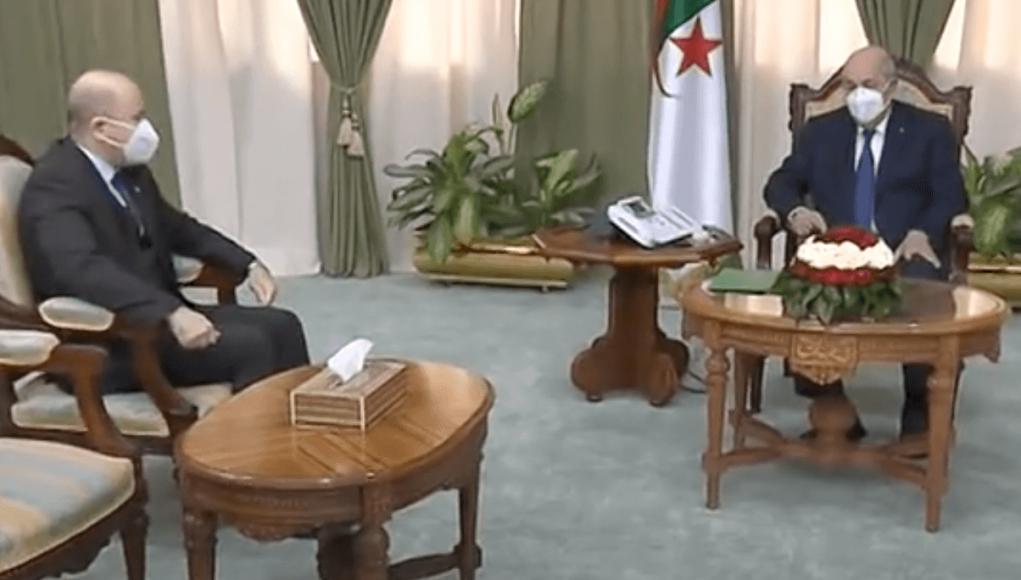 Rencontre entre Abdelmadjid Tebboune et Aimene Benabderrahmane le nouveau Premier ministre