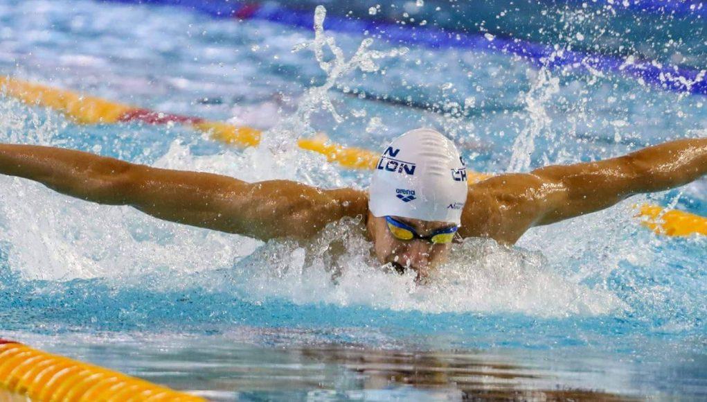 Jaouas Syoud en pleine action sur 200 m papillon