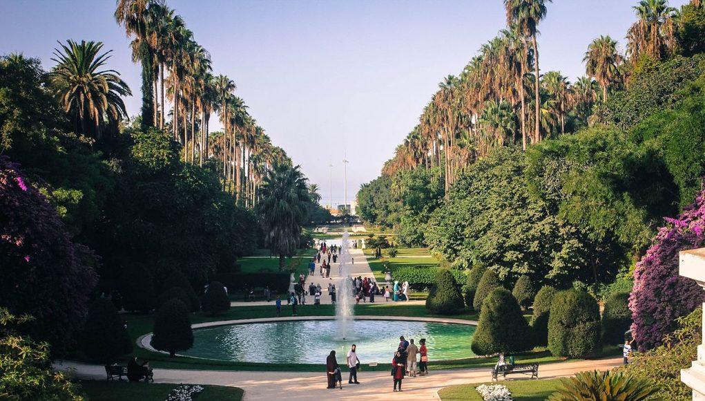 Jardin d'essai d'El Hamma vue en hauteur