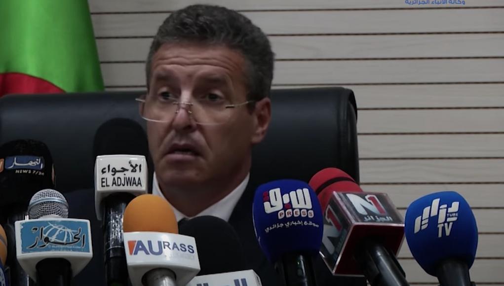 Procureur d'Alger Sid Ahmed Mourad lors d'un point presse