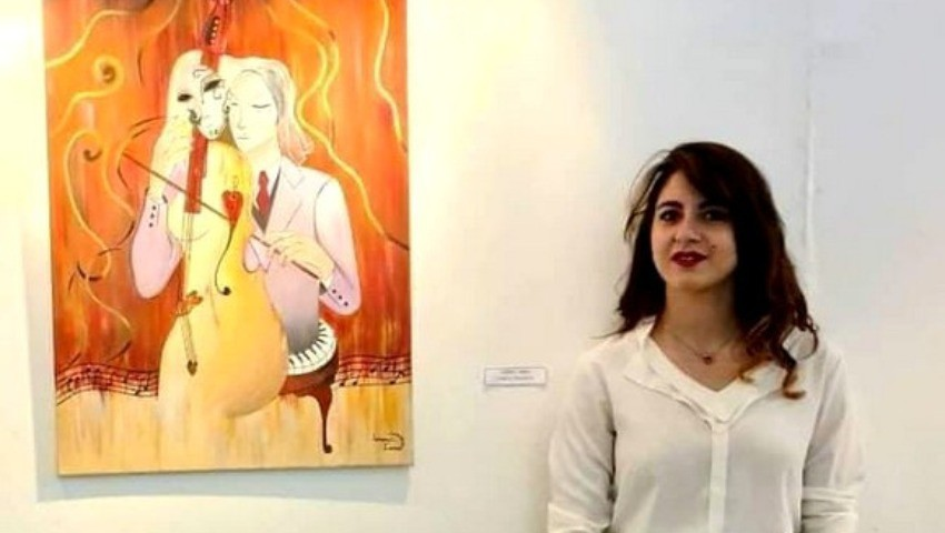 Imane Lamamri artiste peintre algérienne