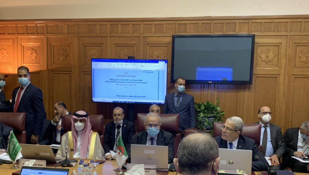 Ramtane Lamamra participant à un Conseil de la Ligue Arabe