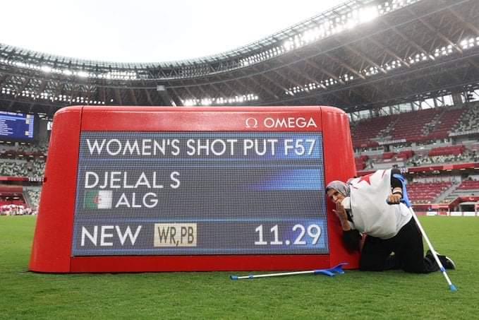 Safia Djelal devant son record aux Jeux Paralympiques
